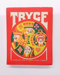 TRYCE Vintage 3M Card Game 1970 Gamette Very Good Condition!