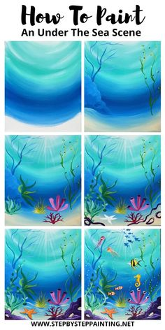 Canvas Painting Tutorials, Acrylic Painting Lessons, Acrylic Painting For Beginners, Step By Step Painting, Beginner Painting, Diy Canvas Art, Diy Painting, Painting & Drawing, Watercolor Paintings