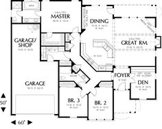 Traditional Plan: 2,001 Square Feet, 3 Bedrooms, 2 Bathrooms - 2559-00137