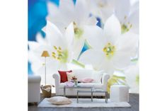 flower series custom size interior decoration wallpapers whole wall sticker