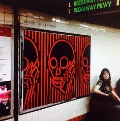 skullphone in New York subway (LP)