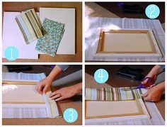 DIY fabric covered canvas