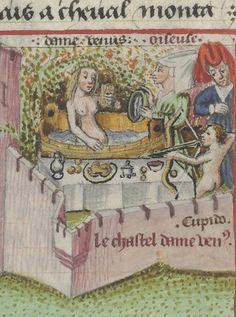 Venus Bathing. Martin le Franc, Le Champion des Dames (1440)Bibliothèque nationale de France, Département des manuscrits, Français 12476, detail of f. 10r