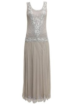 Frock and Frill Occasion wear grey £185.00 AT vintagedancer.com