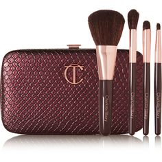 Charlotte Tilbury Magical Mini Brush Set found on Polyvore featuring beauty products, makeup, makeup tools, makeup brushes, blender brush, smudge brush, set of makeup brushes, set of brushes and blending brush