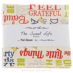 The Sweet Life Prints Charm Pack - Pat Sloan - Moda Fabrics
