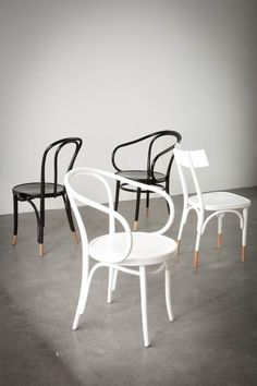 Painted Bentwood Chairs & Barstools | Thonet