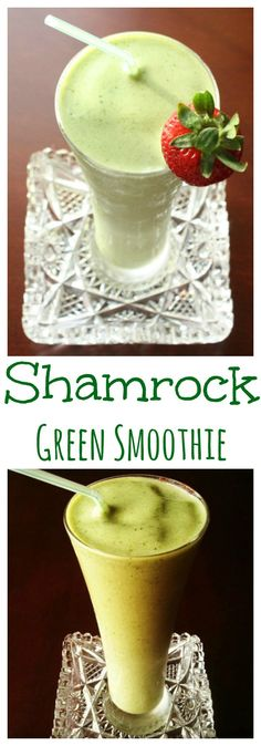 St. Patrick's Day Green Smoothie - satisfy your shamrock shake cravings the healthy way with this mint green smoothie | cupcakesandkalechips.com | gluten free
