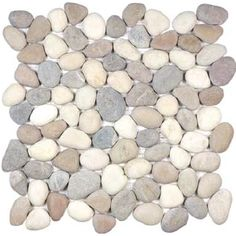 "Anatolia - Harmony Warm Blend Pebble Mosaic (12""x12"" sheet)"