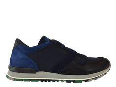 Sneakers Tod s - Todrun en cuir grainé, nubuck et toile noir et marine 1bc2ba82a88f