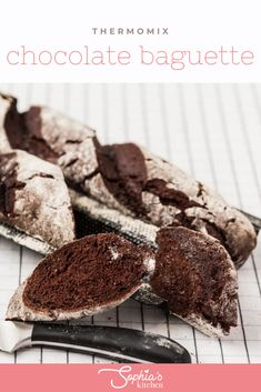 This Thermomix Chocolate baguette is a special treat that is definitely going to be an attraction at your breakfast table. The recipe is so easy to prepare and tastes gorgeous! Best Bread Recipe, Bread Recipes, Cake Recipes, Homemade Chocolate, Chocolate Desserts, Thermomix Bread, Beer Bread, Gluten Free Cakes, Artisan Bread
