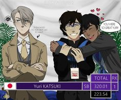 Katsuki Yuri, a small Katsudon loving boy, struggles with his life. All Out Anime, Yuri X Victor, Yuri On Ice Comic, Yuri!!! On Ice, Katsuki Yuri, Katsudon, Fan Art, Fujoshi, Ice Skating