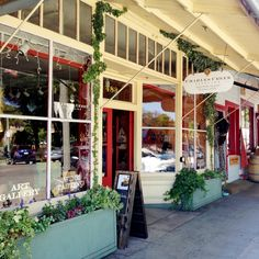Charles Creek Vineyard Tasting Room Store Front on the Sonoma Plaza