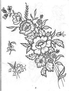 Gallery.ru / Фото #69 - Рисунки для вышивки лентами и гладью - Vladikana