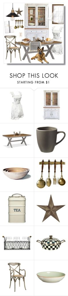 """""""Untitled #4124"""" by kellie-debrandt-mescher ❤ liked on Polyvore featuring interior, interiors, interior design, home, home decor, interior decorating, West Elm, Farmhouse Pottery, Pulchrum! and MacKenzie-Childs"""