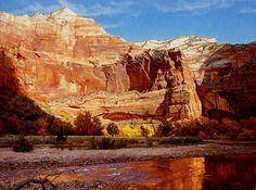 Wall of Zion by Mark Haworth Oil ~ 36 x 48
