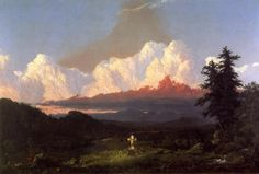 Frederic Edwin Church - To the Memory of Cole,1848