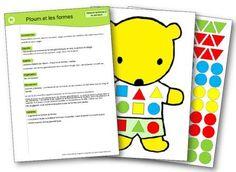 Ploum et les formes jeu sur les formes et les couleurs Kindergarten, Preschool Crafts, Montessori, Baby Kids, Shapes, Album, Activities, Education, School