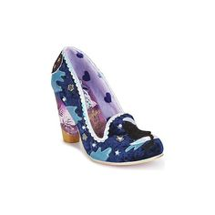 Irregular Choice STARS AT NIGHT Court Shoes (225 AUD) ❤ liked on Polyvore featuring shoes, pumps, blue, star shoes, irregular choice footwear, star pumps, synthetic shoes and irregular choice shoes