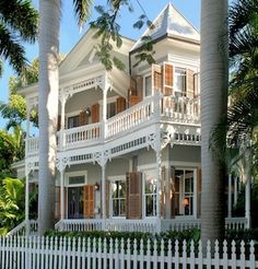 Key West's historic district includes almost 3,000 structures, such as this house on William Street.