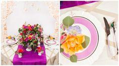 Bright Orchid Shantung Table Runner | BBJ Linen