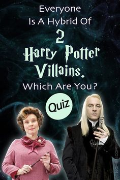 Harry Potter Quiz: Sometimes the bad guys have a few redeeming qualities! This Harry Potter personality quiz will determine which hybrid of villains you are from the Wizarding World! Harry Potter Villains, Harry Potter Quiz, Harry Potter Actors, Quizzes Funny, Quizzes For Fun, Personality Quizzes, Hogwarts, Slytherin, Book Fandoms