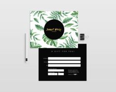 Gold confetti double sided gift certificate template - Instant ...