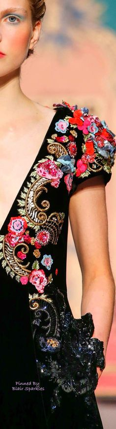 New embroidery fashion detail embellishments beautiful 42 ideas Tambour Embroidery, Couture Embroidery, Embroidery Fashion, Couture Details, Fashion Details, Flower Dresses, Fall Dresses, Tutu Ballet, Bordado Floral