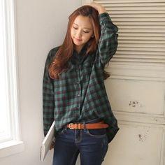 Korea womens shopping mall [styleberry] Modern Classic Free pit Check Shirt / Size : FREE / Price : 39.81 USD #korea #fashion #style #fashionshop #styleberry #lovely #top #blouse #shirts #checkpattern