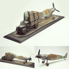 BF109 G10 / Opel Blitz diorama. Modeler X15 #scalemodel #plastimodelismo #miniatura #miniature #maqueta #maquette #hobby #diorama #scalemodelkit #plasticmodel #plastimodelo #plastickits #usinadoskits #udk