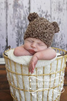 www.sweetchildofminephoto.com Bassinet, Crochet Hats, Children, Sweet, Baby, Photography, Decor, Knitting Hats, Young Children