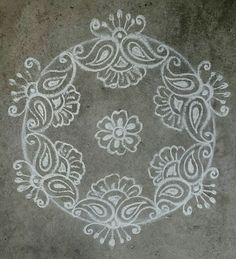 Kolam 20160108 Rangoli Designs Latest, Rangoli Designs Flower, Rangoli Border Designs, Rangoli Ideas, Rangoli Designs Diwali, Kolam Rangoli, Flower Rangoli, Beautiful Rangoli Designs, Indian Rangoli