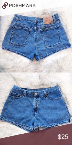 Levi's Vintage High Waisted Denim Shorts 30 Adorable vintage Levi's high waisted shorts in a medium wash. Waist size is 30 inches. Rise is 7 inches. Levi's Shorts Jean Shorts