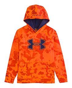 best service 771cf 3a2ba Under Armour Big Boys  UA Storm Armour® Fleece Big Logo Blocked Hoodie Youth  Medium Volcano
