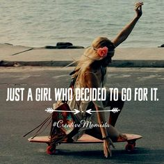 Just a girl who decided to go all in to live the life of her dreams. | Mompreneur. Inspirational Quotes for Female Entrepreneurs. Lady Boss. Creative Momista. Game Changer. Brave. Fearless. Unstoppable. Courageous. | creativemomista.com