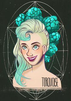 Birthstones: Turquoise by StressedJenny.deviantart.com on @DeviantArt