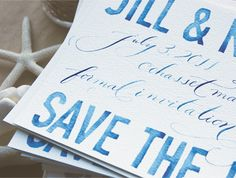 Gorgeous save the dates by Swiss Cottage Design