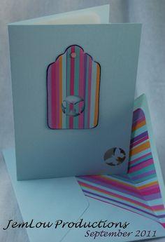 Blue Striped Butterfly Card by JemLouProductions on Etsy, $3.00