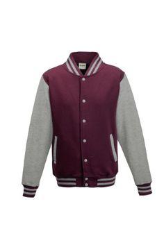 Awdis Varsity jacket  16 Colours  Sizes XS to  Burgundy  Heather Grey  2XL -- Want additional info? Click on the image.