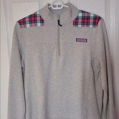 Vineyard Vines Plaid Shep Shirt Light Shep Shirt, cut to layer well underneath it! Vineyard Vines Tops Sweatshirts & Hoodies