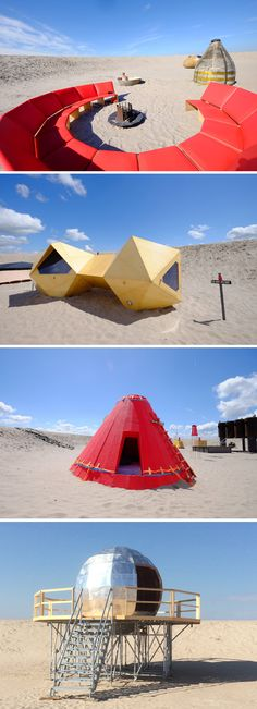 Amsterdam Gets An Artistic Urban Campsite // The creative Dutch duo, Annette Van Driel and Francis Nijenhuis, have put together UrbanCampsite Amsterdam, a destination where camping and art come together.