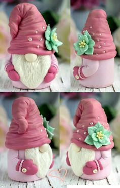 Polymer Clay Ornaments, Polymer Clay Christmas, Cute Polymer Clay, Polymer Clay Projects, Diy Arts And Crafts, Creative Crafts, Easter Crafts, Christmas Crafts, Christmas Knomes