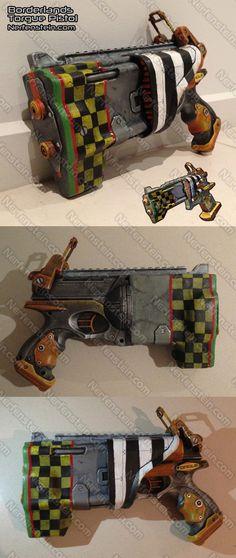 Borderlands Torgue pistol - Nerf Gun mod prop by Nerfenstein