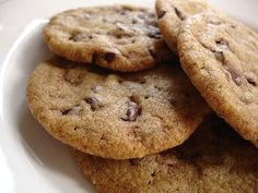 Technicolor Kitchen: Cookies crocantes com gotinhas de chocolate