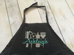 Personalized Hairdresser Apron Decal // Vinyl by TheMonogramHouse