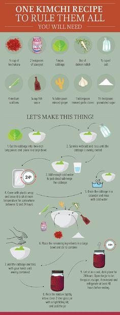 Hacer kimchi en casa de manera fácil.