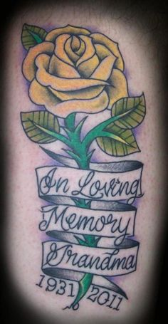 Memorial tattoo idea for Justin - except I want a Poppy flower.