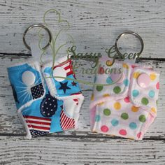 Cloth Diaper Key Chain by SassyGreenCreations on Etsy