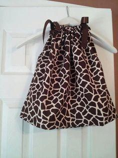 Giraffe Pillowcase Dress