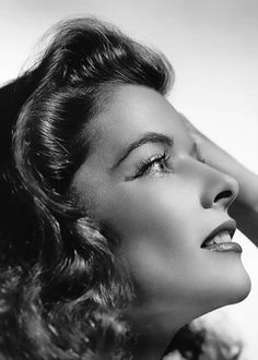 Katherine Hepburn, beautiful profile photo of her, great actress